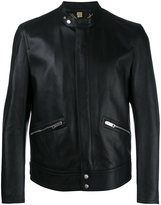 Burberry zipped pocket jacket - men - Cotton/Lamb Skin/Acetate/Viscose - 52