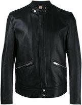 Burberry zipped pocket jacket - men - Lamb Skin/Cupro/Cotton/Viscose - 52