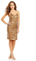 Gianni Bini Social Lotte Sleeveless Sequin Slip Dress