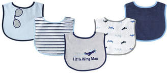 Luvable Friends Drooler Bibs, 5-Pack, One Size