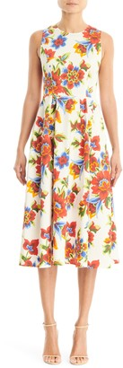 Carolina Herrera Sleeveless A-Line Midi Dress