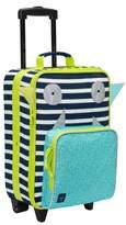 Lassig Toddler Little Monster Rolling Suitcase - Blue