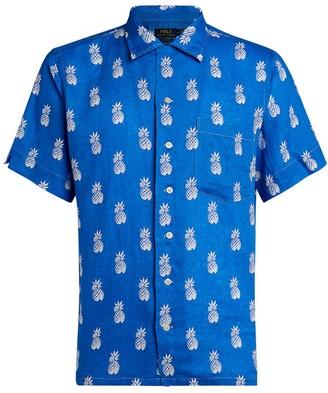Ralph Lauren Custom-Fit Linen Pineapple Print Shirt