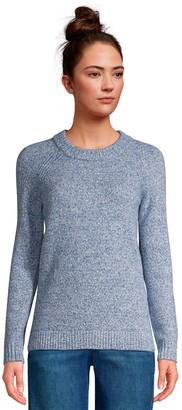 Lands' End Women's Crewneck Marled Sweater
