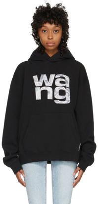 Alexander Wang Black Money Logo Hoodie
