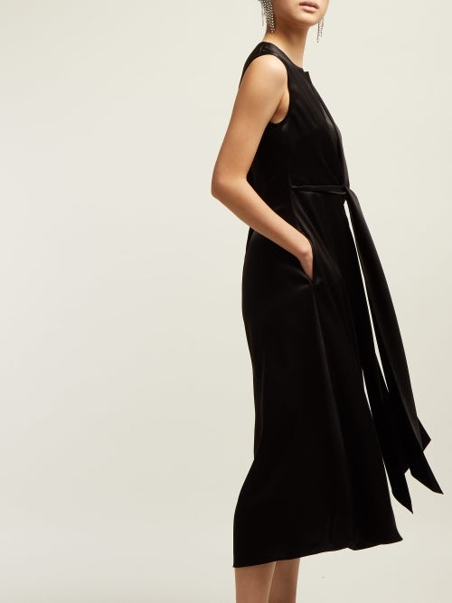 Thumbnail for your product : Osman V-neck Tie-front Dress - Black