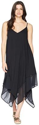Tommy Bahama Cotton Modal Scarf Dress Cover-Up (Black) Women's Swimwear