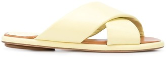 Rosetta Getty Nappa flat crossover sandals