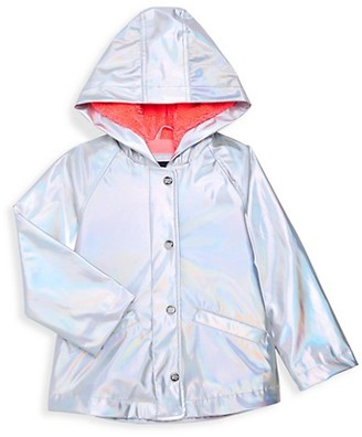 Limited Too Little Girl's Faux Fur-Lined Raincoat