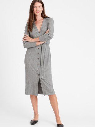 Banana Republic Ribbed-Knit Cardigan Dress