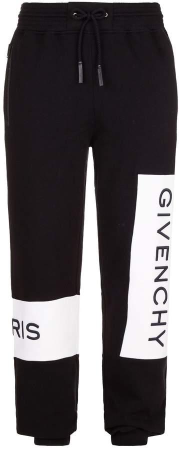 Givenchy Logo Panel Jersey Sweatpants
