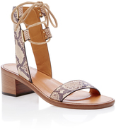 Rosetta Getty Watersnake Heeled Lace Up Sandal