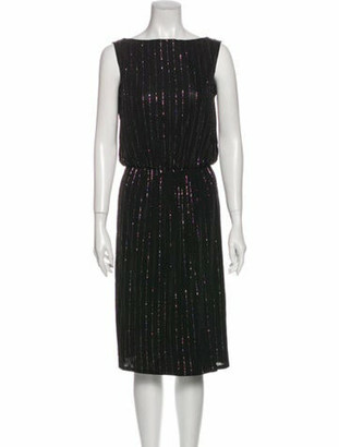 Marc Jacobs Striped Knee-Length Dress Black