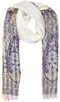 Etro Paisley Silk & Cashmere-Blend Scarf