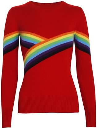 Madeleine Thompson Beatrice Rainbow Crewneck Sweater