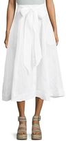 Lisa Marie Fernandez Beach Cotton Button Trim Skirt