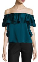 Rachel Zoe Gaia Off-The-Shoulder Top, Dark Cobalt