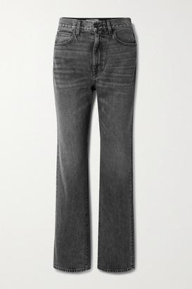 SLVRLAKE London High-rise Straight-leg Jeans - Anthracite