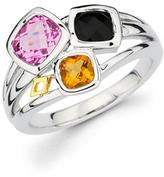 Sapphire, Onyx and Citrine 18K Gold and Sterling Silver Ring by Boston Bay Diamonds