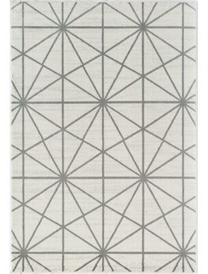 Little Seeds Serenity Passages Geometric White Area Rug Rug Size: Rectangle 5' x 7'