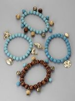 City Style Four Strand Bead & Charm Bracelets