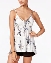 American Rag Flower Crush Babydoll Top