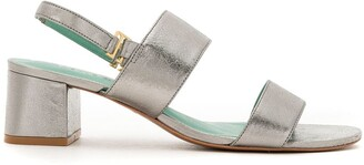 Blue Bird Shoes Leather Metallic Mules