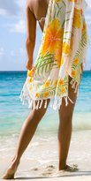 1 World Sarongs Womens Hawaiian Floral Cover-Up Sarong in