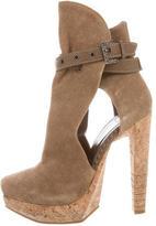 Herve Leger Cutout Ankle Boots