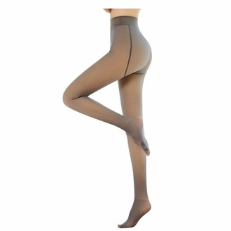 ZYZS Women's Tights Black Skin Colour Many Other Colours Reinforced Tights Without Pattern Transparent Tear-Resistant and Shiny Pack of 1 - Multicolour - Medium