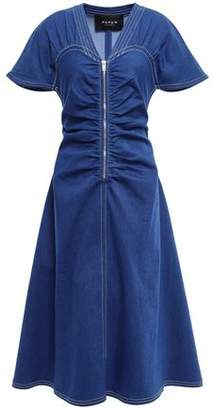 Paper London Carmela Ruched Denim Dress