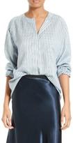 Vince Women's Ticking Stripe Silk Blouse