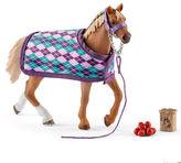 Schleich NEW English Thoroughbred With Blanket
