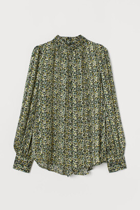 H&M Wide-cut Blouse - Green