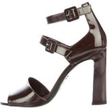 Hermes Nora Patent Leather Sandals