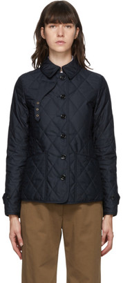 Burberry Navy Quilted Fernleigh Jacket