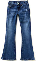 """7 For All Mankind Big Girls 7-14 Embroidered """"A""""-Pocket Flared Distressed Jeans"""