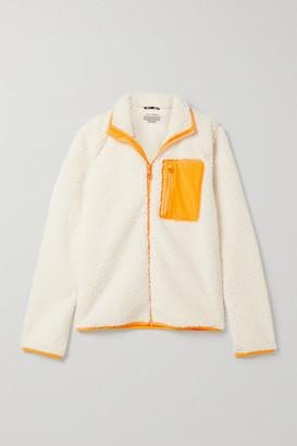Tory Sport Sherpa Shell-trimmed Fleece Jacket - Ivory
