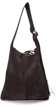 Isabel Marant Bakoo Fringed Suede Shoulder Bag - Womens - Black