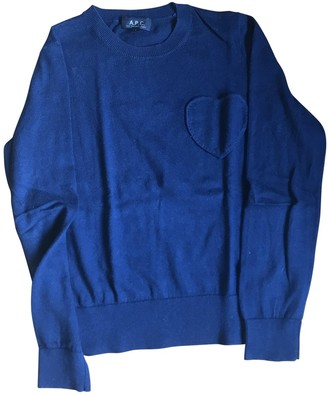 A.P.C. Navy Cotton Knitwear for Women