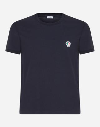 Dolce & Gabbana Round-Neck Stretch Cotton T-Shirt