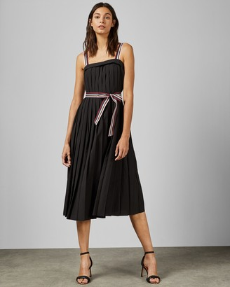 Ted Baker PLEATZI Sleeveless pleated dress