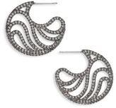 Adriana Orsini Belize Pave Hoop Earrings/16