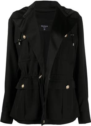 Balmain Hooded Military Jacket