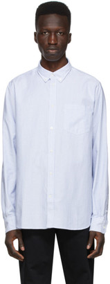 Norse Projects White and Blue Oxford Anton Shirt