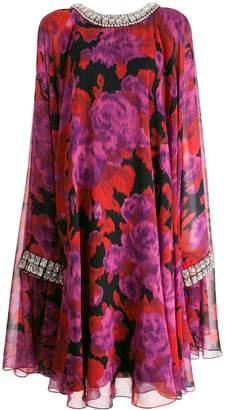 Richard Quinn floral flared dress