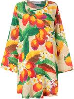 Isolda - mango and floral pirnt dress - women - Silk - 36
