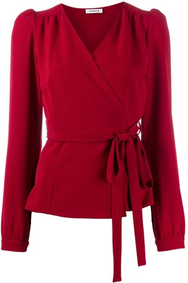 P.A.R.O.S.H. wrap V-neck blouse
