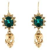 Mawi Crystal Skull Drop Earrings