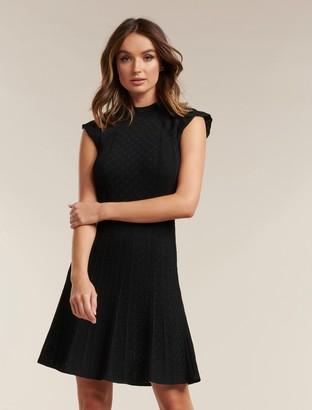 Forever New Ebony A-line Pointelle Knit Dress - Black - 10